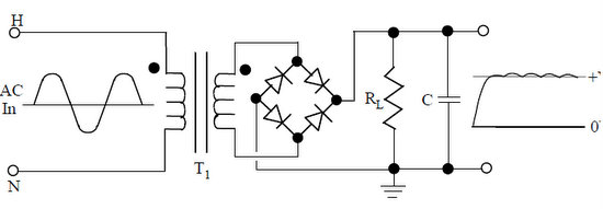 Half And Full Wave Rectification From Ac To Dc on dc capacitor