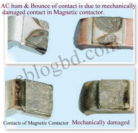 ac hum and contact bounce in magnetic contactor