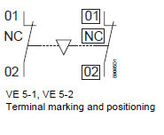 terminal marking and position - mechanical , electrical interlock unit
