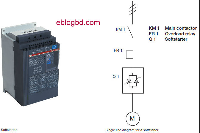 Single phase start relay schematic get free image about for Single phase motor soft starter