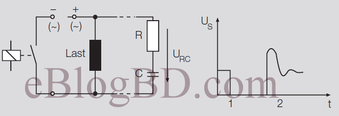 relay contact protection circuit against transient voltage