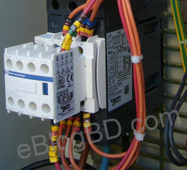 Magnetic Contactor- construction & how it works.