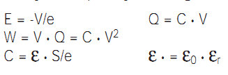 capacitor formula with DC voltage